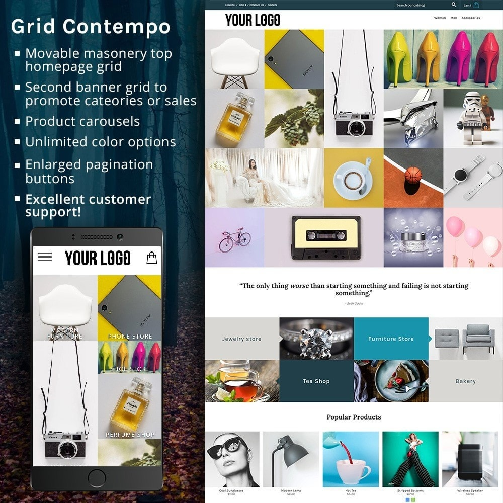 theme - Fashion & Shoes - Grid Contempo - 1