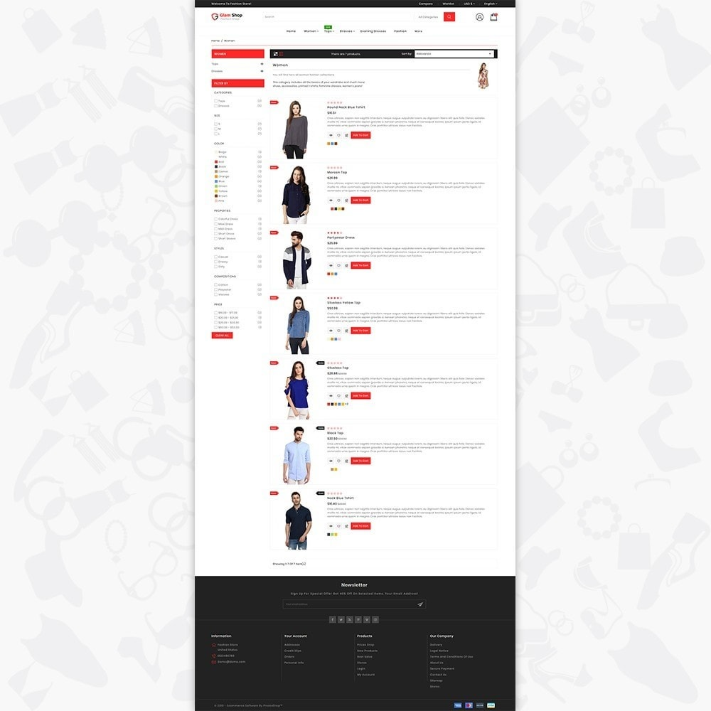 theme - Fashion & Shoes - GlamShop - The Fashion Shop - 4