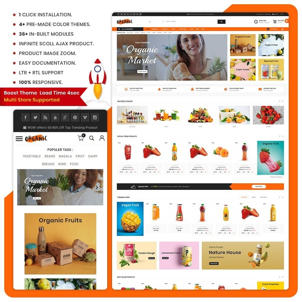 theme - Salute & Bellezza - Organic – The Organic Fruit Store - 1