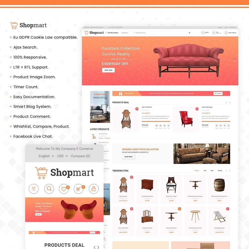 theme - Heim & Garten - Shopmart - multipurpose furniture store template - 1