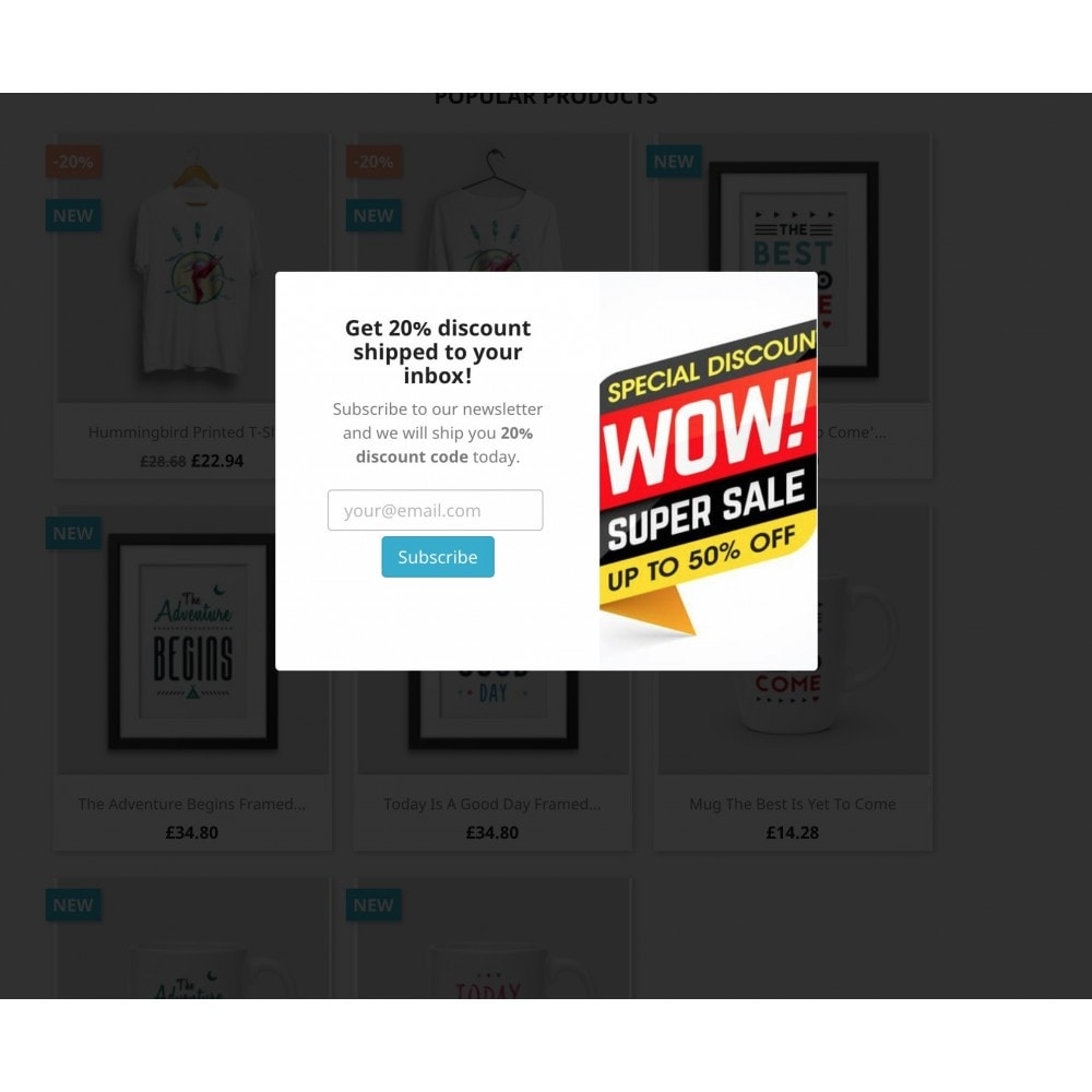 module - Newsletter y SMS - Mailchimp Newsletters Popup - 4