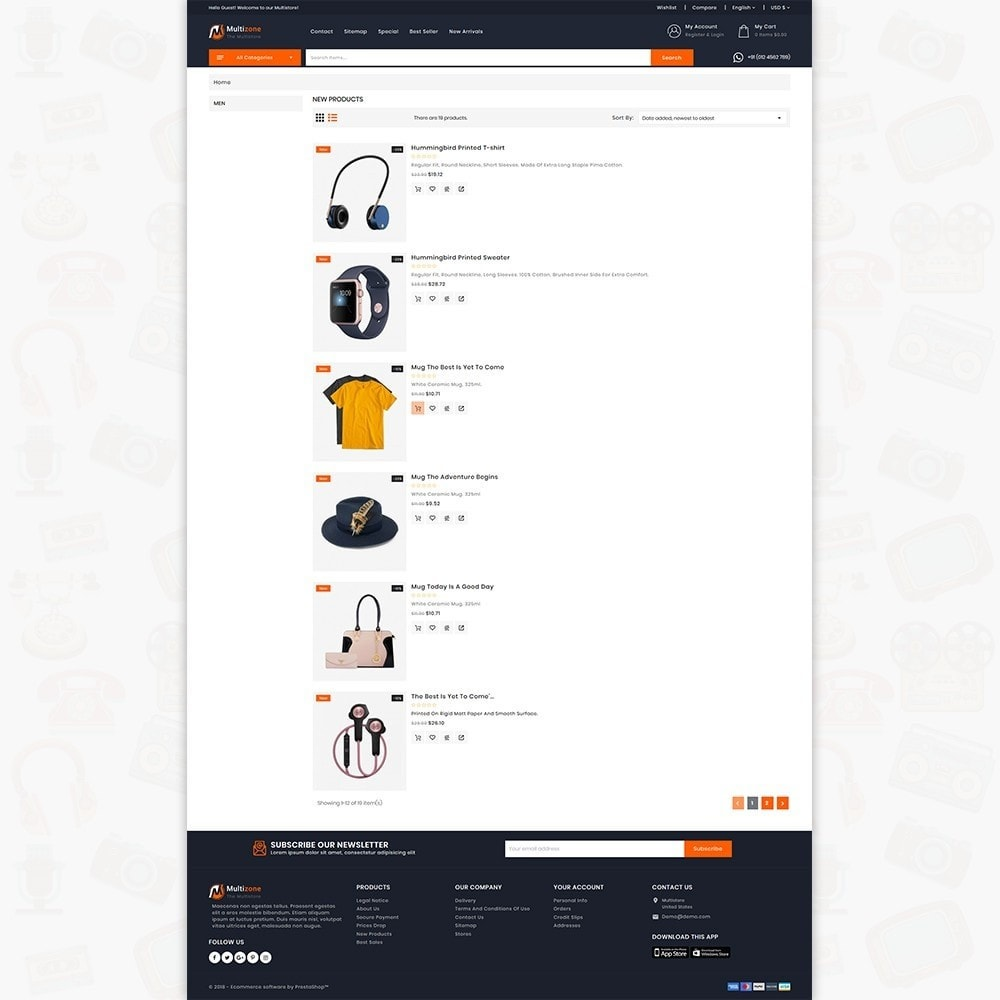 theme - Electronics & Computers - MultiZone - The Multi Shop - 4