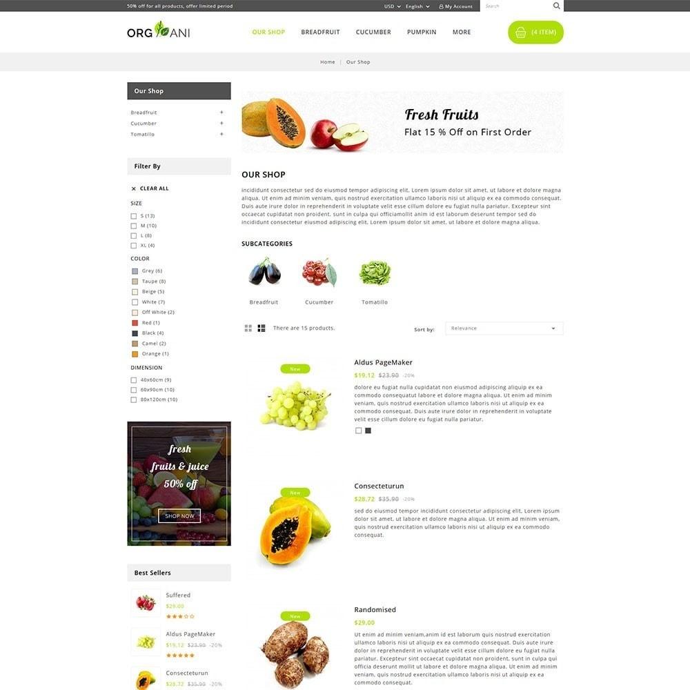 theme - Продовольствие и рестораны - Organi - The Retailer Shop - 5