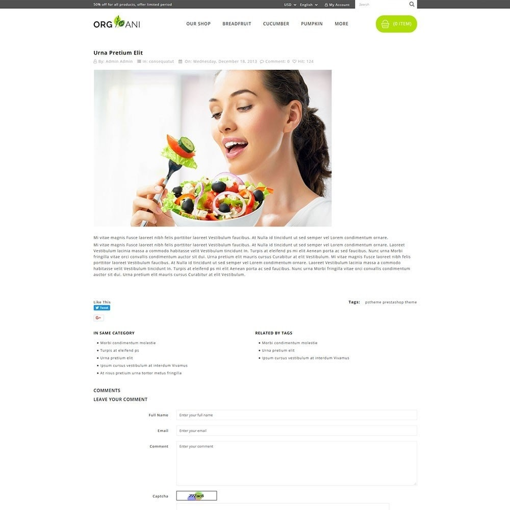 theme - Продовольствие и рестораны - Organi - The Retailer Shop - 7