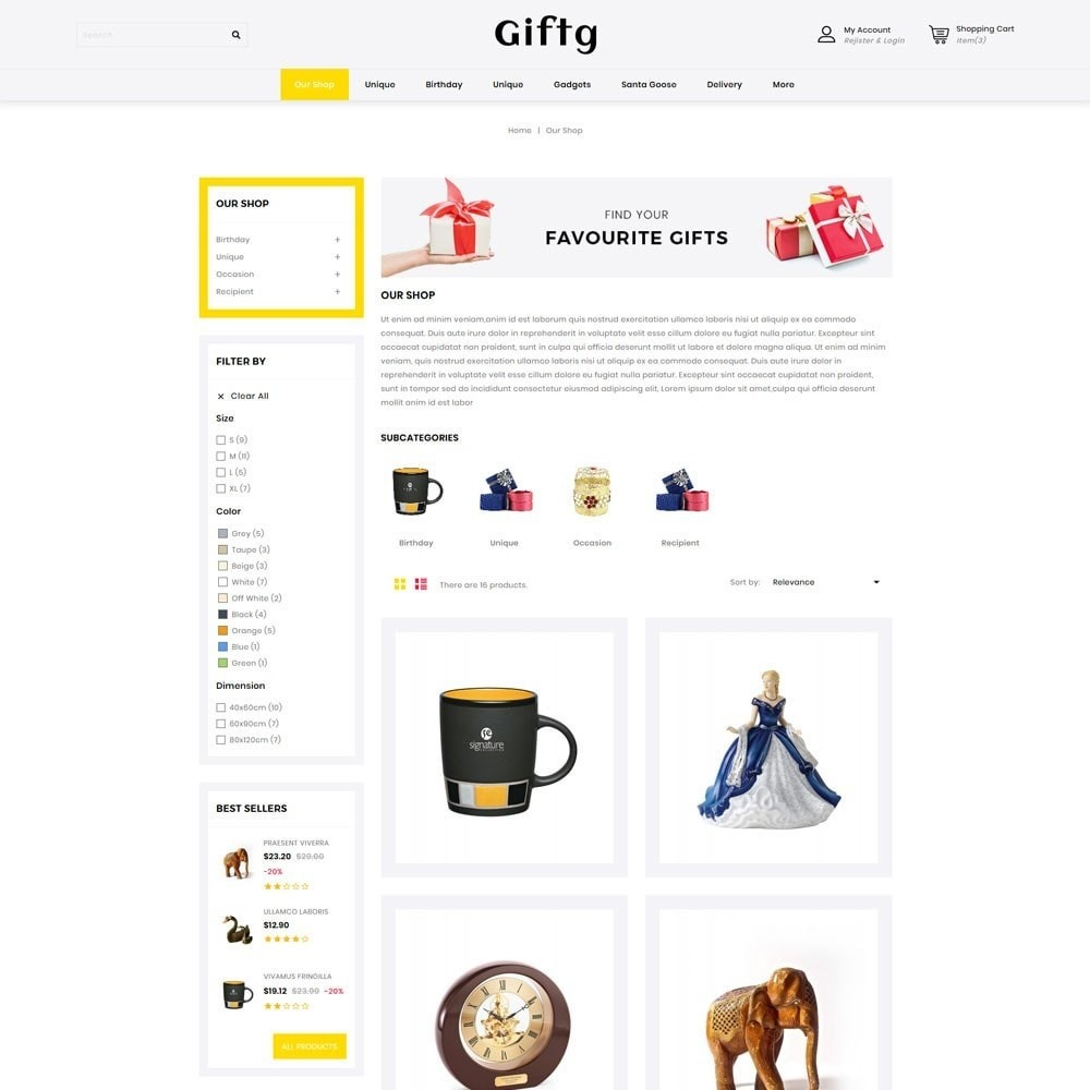 theme - Gifts, Flowers & Celebrations - Giftg - The Gift Shop - 4