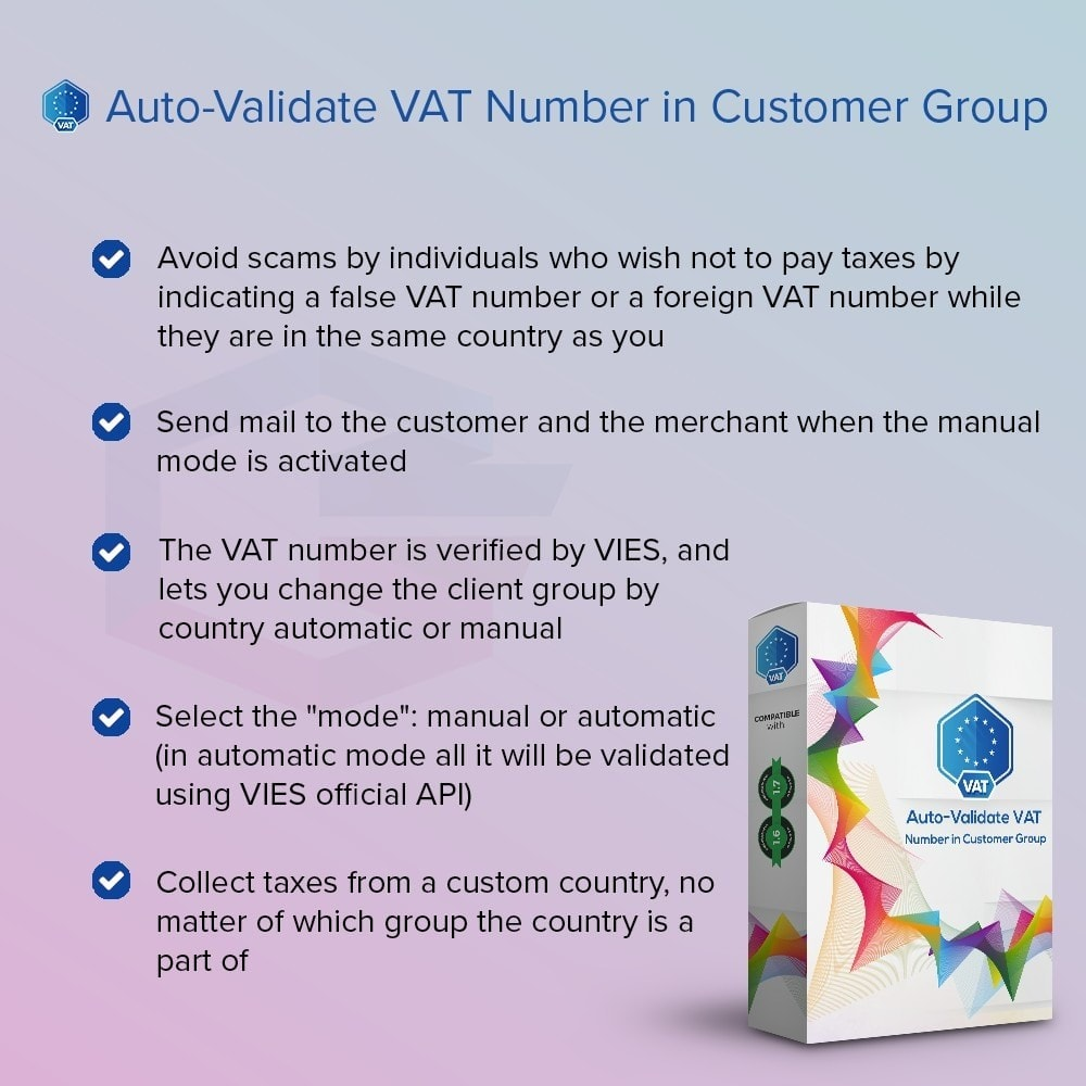 module - Boekhouding en fakturatie - Auto-Validate VAT Number in Customer Group - 1