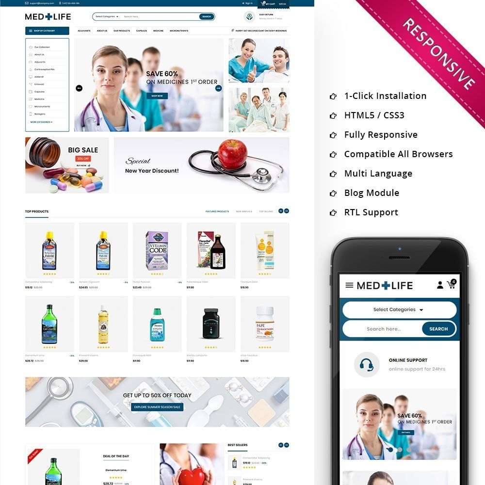 theme - Santé & Beauté - Medlife - The Medical Mega Store - 1
