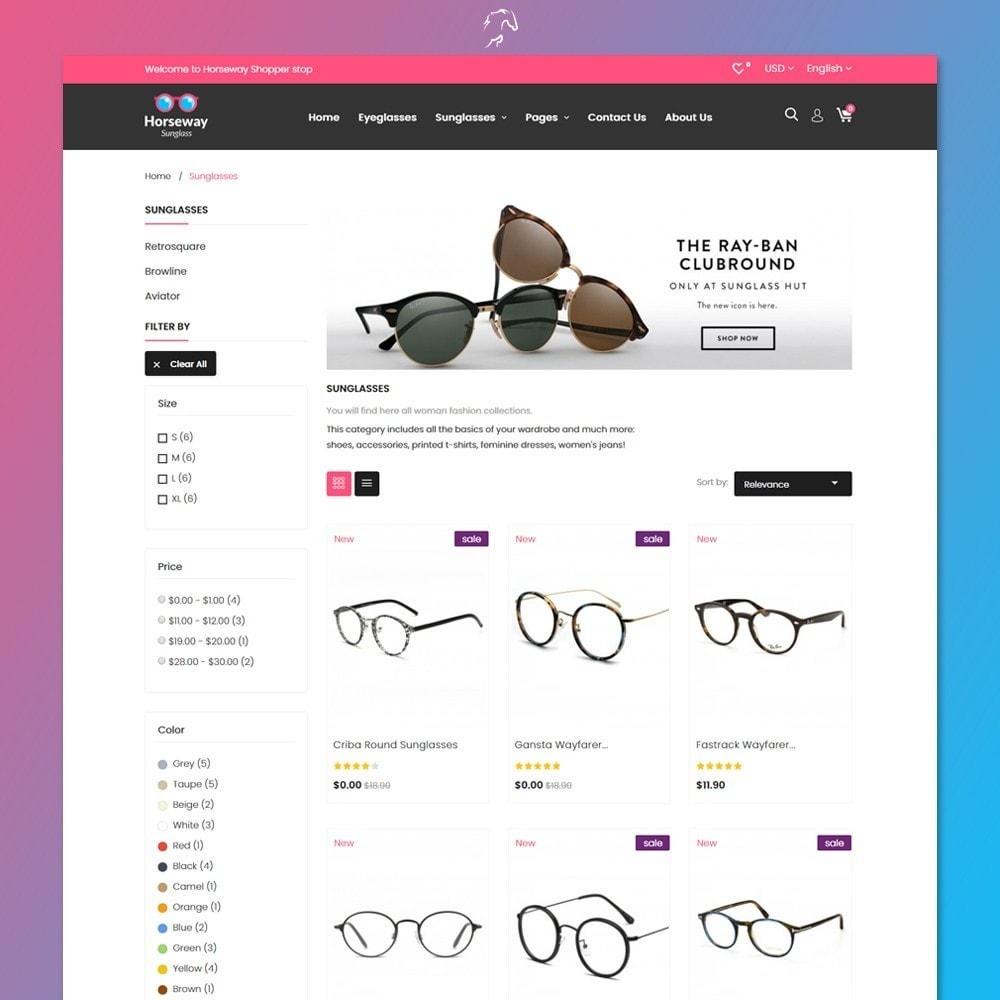 theme - Fashion & Shoes - Horseway Sunglass Ecommerce Shop - 3