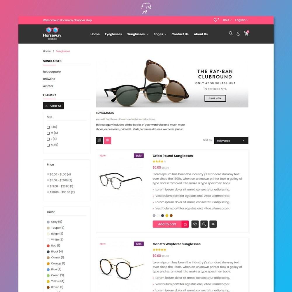 theme - Fashion & Shoes - Horseway Sunglass Ecommerce Shop - 4
