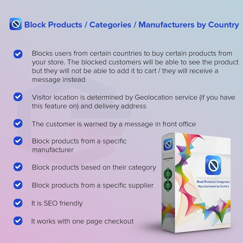 module - Internationaal & Lokalisatie - Block Products / Categories / Manufacturers by Country - 1