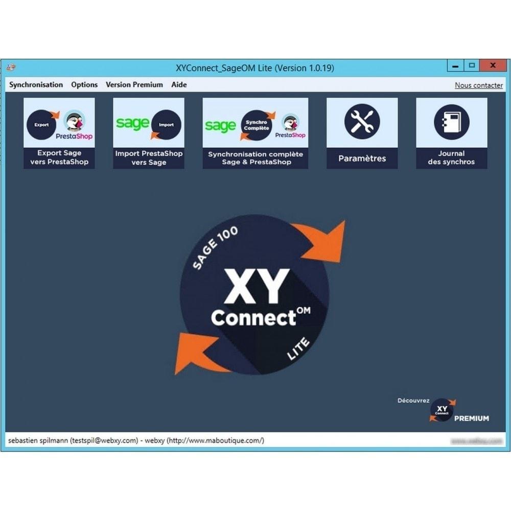 module - Connexion à un logiciel tiers (CRM, ERP...) - XY-Connect Lite Commandes - Sage 100 - 1