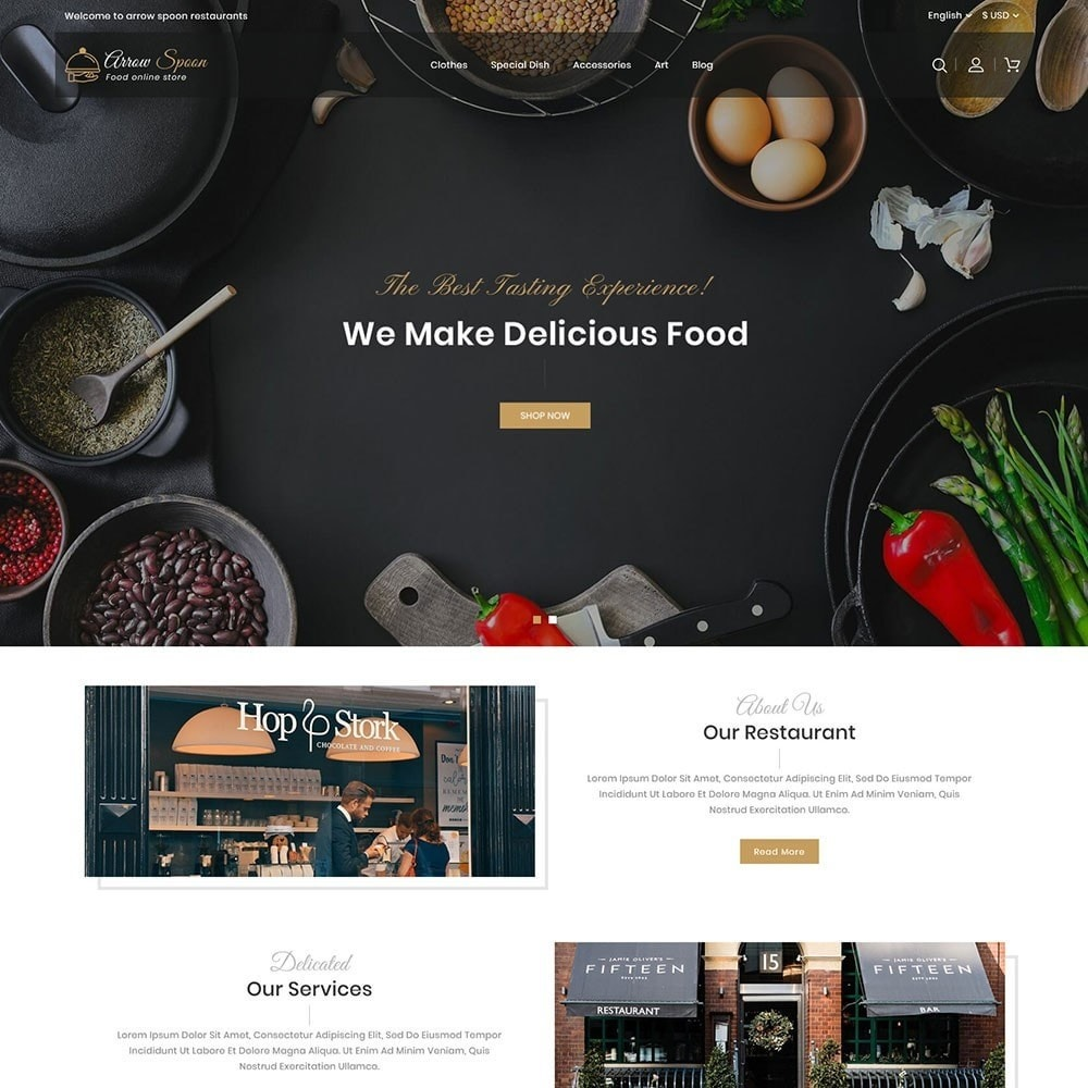 theme - Продовольствие и рестораны - Arrow Spoon Restaurants - 2