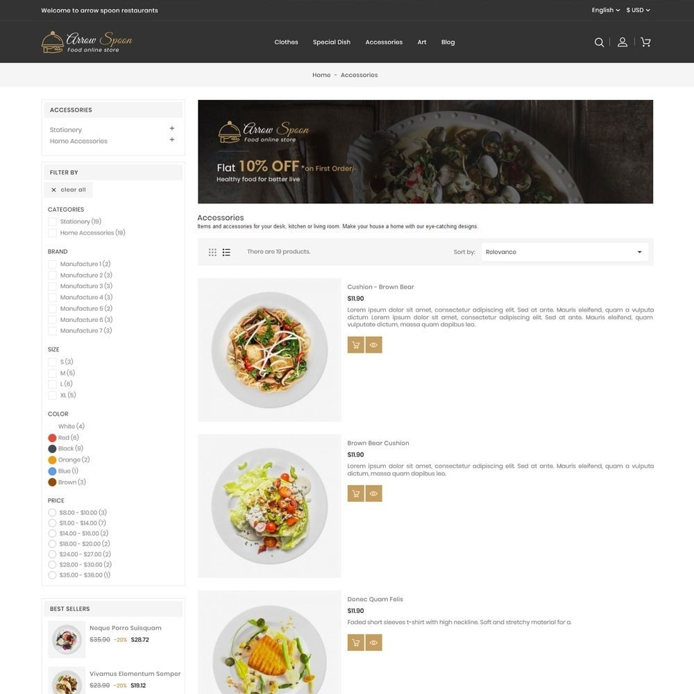 theme - Lebensmittel & Restaurants - Arrow Spoon Restaurants - 4