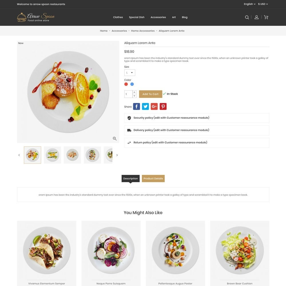 theme - Lebensmittel & Restaurants - Arrow Spoon Restaurants - 5