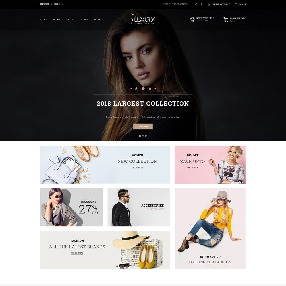 theme - Moda & Calçados - Luxury Minimal Fashion Shop - 2