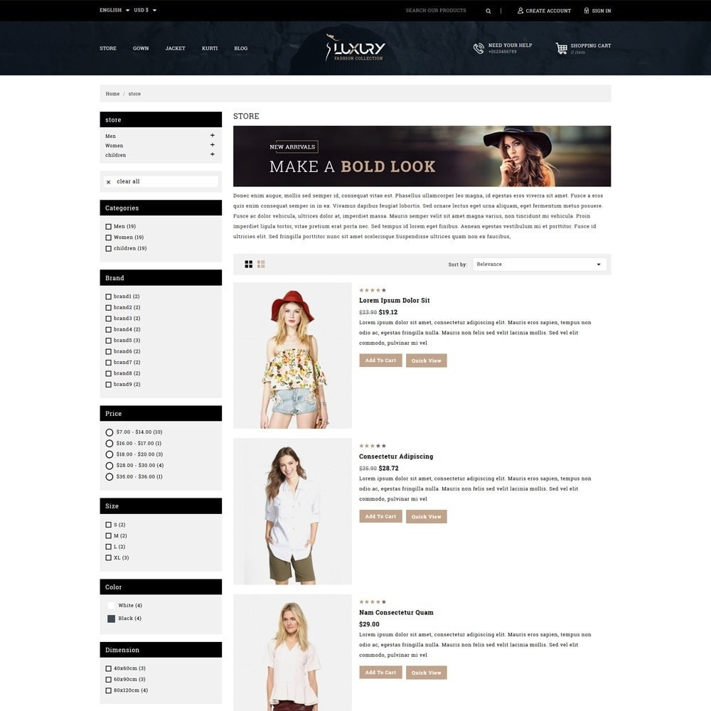 theme - Moda & Calçados - Luxury Minimal Fashion Shop - 4