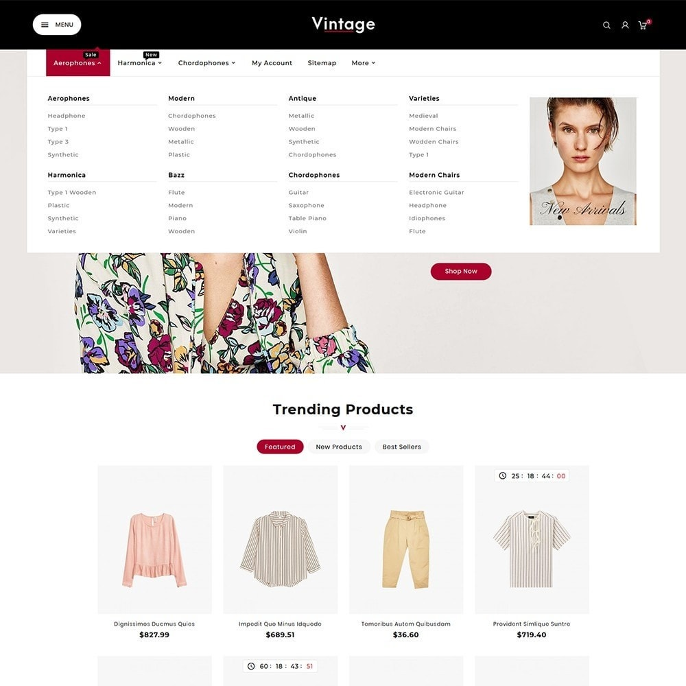 theme - Moda & Calzature - Vintage Fashion Apparels - 8