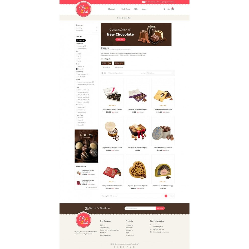 theme - Gifts, Flowers & Celebrations - Chocobar & Sweets - 3