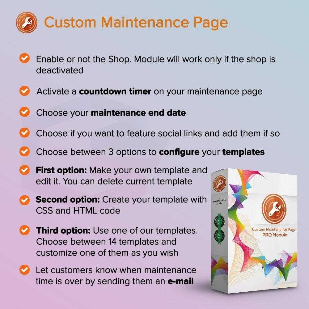 module - Personnalisation de Page - Page de maintenance personnalisée - 1