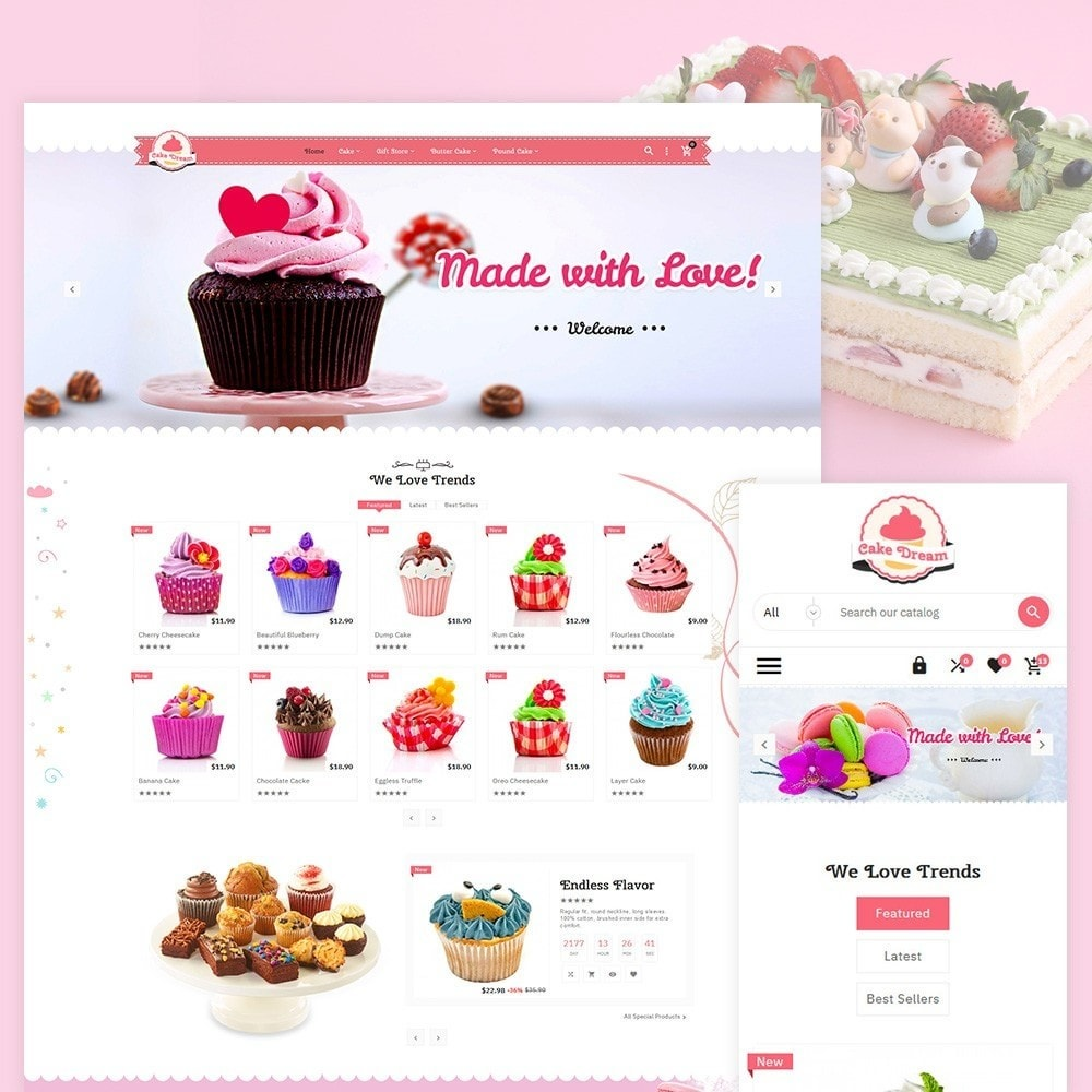 theme - Food & Restaurant - Cake Dream - Cake Store - 1
