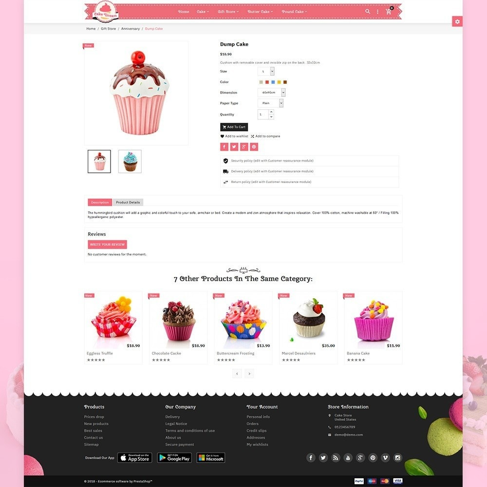 theme - Food & Restaurant - Cake Dream - Cake Store - 5