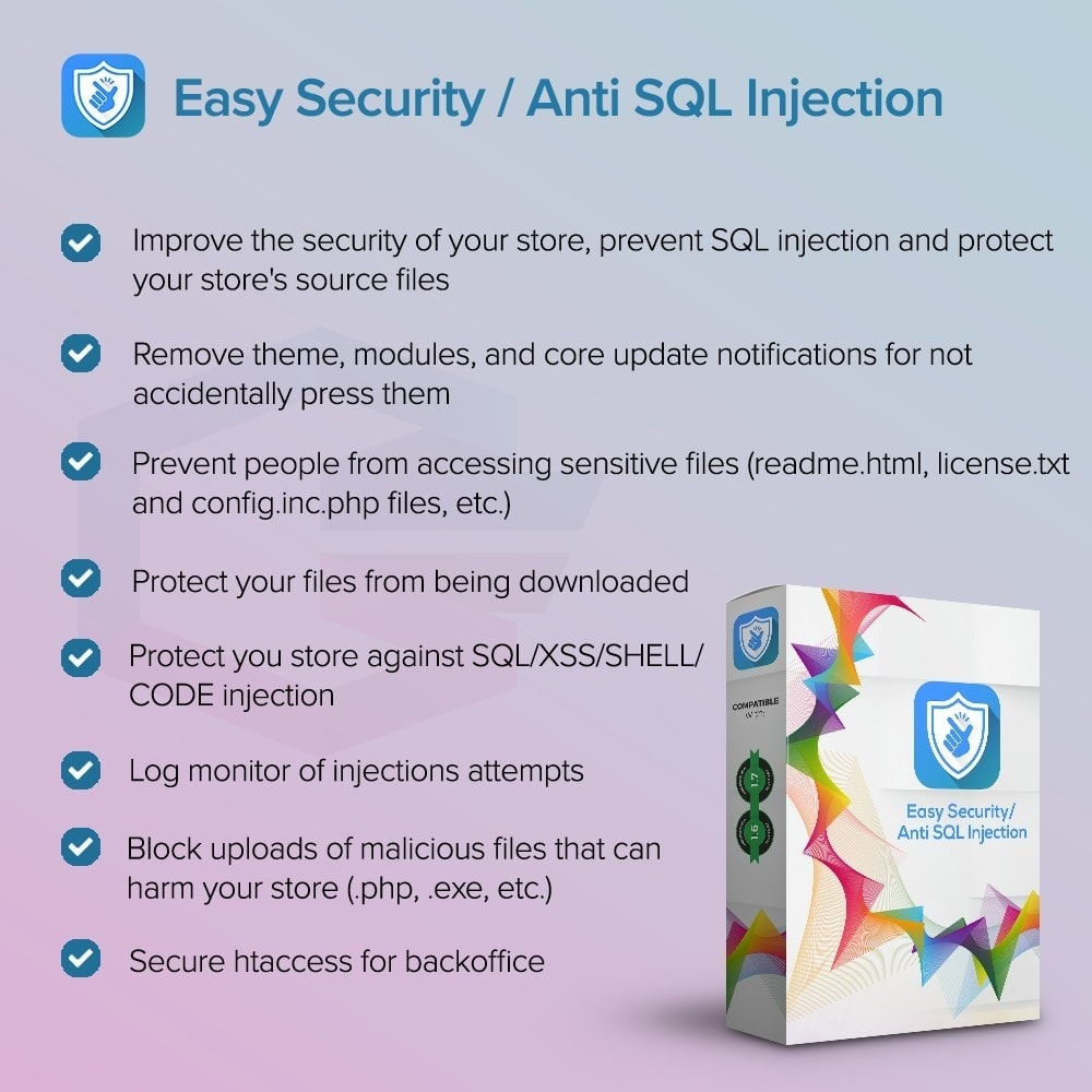 module - Безопасности и доступа - Easy Security / Anti SQL Injection PRO - 1