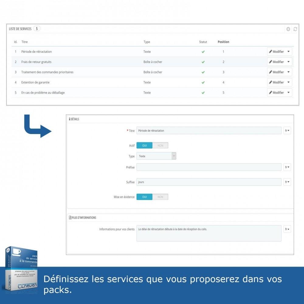 module - Ventes croisées & Packs de produits - Packs de services à la commande - 3