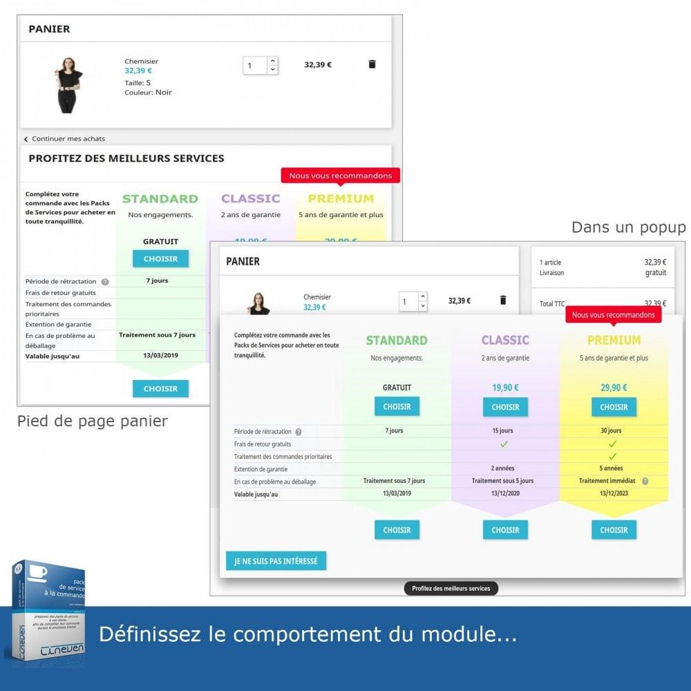 module - Ventes croisées & Packs de produits - Packs de services à la commande - 5