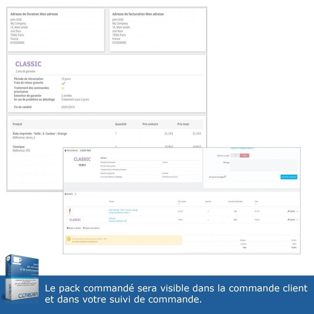 module - Ventes croisées & Packs de produits - Packs de services à la commande - 6