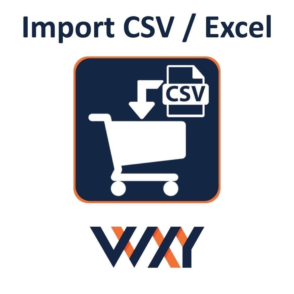 module - Importação & exportação de dados - Import CSV / Excel cart - 1