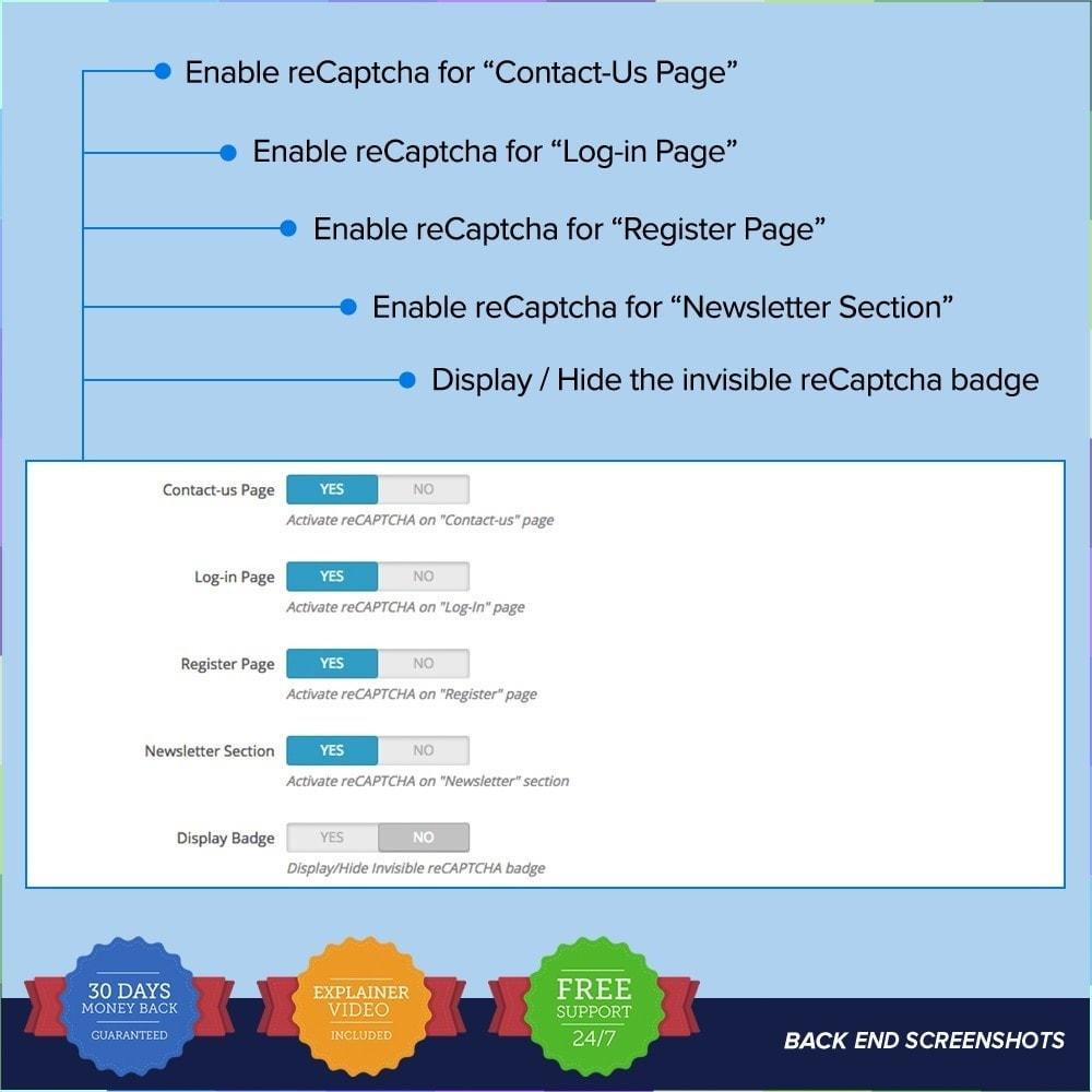 module - Sicherheit & Brechtigungen - reCAPTCHA PRO - Simple - Secure - 6