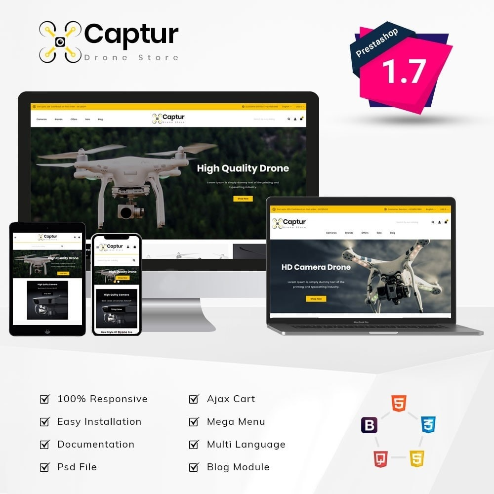 theme - Electronics & Computers - Captur Drone Store - 1