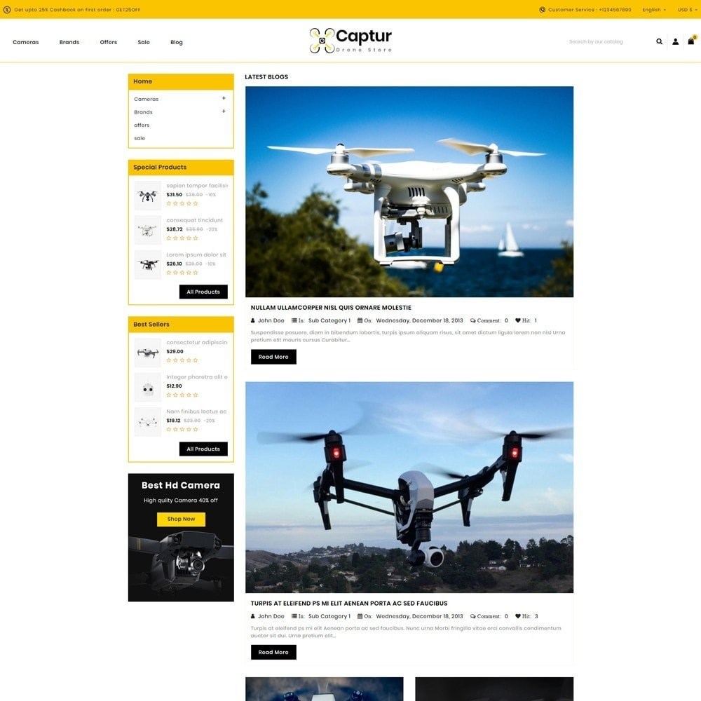 theme - Electronics & Computers - Captur Drone Store - 9