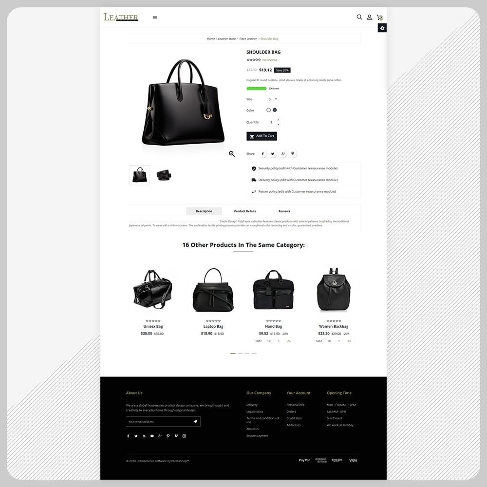 theme - Fashion & Shoes - Leather Bag Super Store - 4