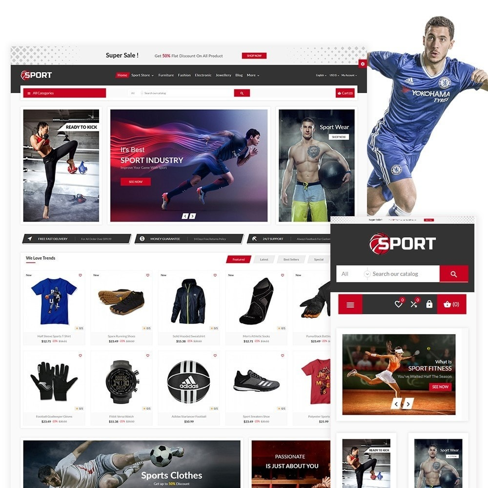 theme - Sport, Loisirs & Voyage - Sport The Football Sport Shop - 1