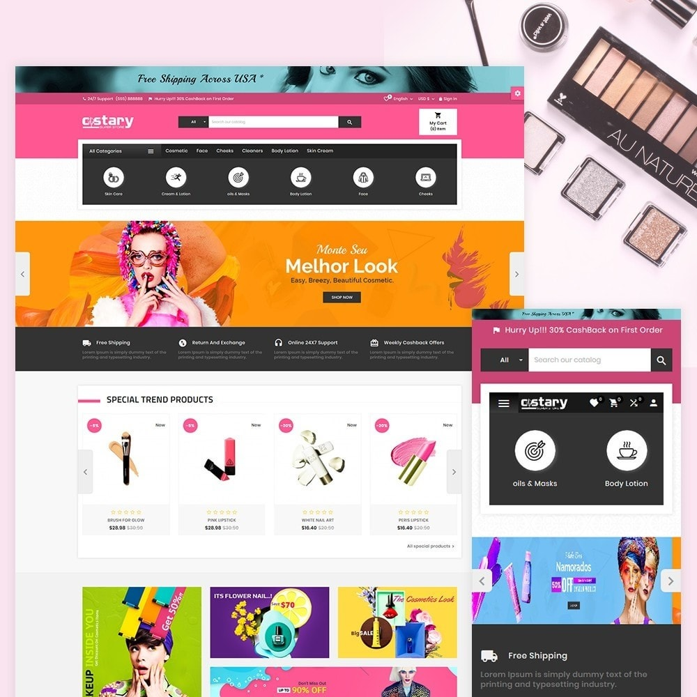 theme - Saúde & Beleza - Costary Cosmetics Beauty Super Store - 1
