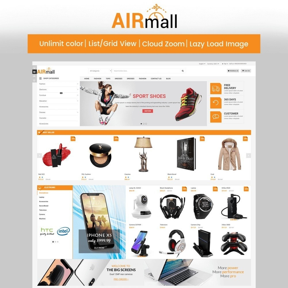 theme - Eletrônicos & High Tech - The AirMall Market - 1