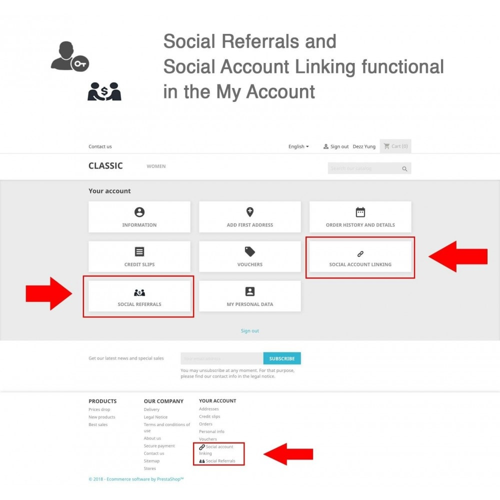 module - Social Rewards & Coupons - Social Referrals + Connects (3 in 1) - 10