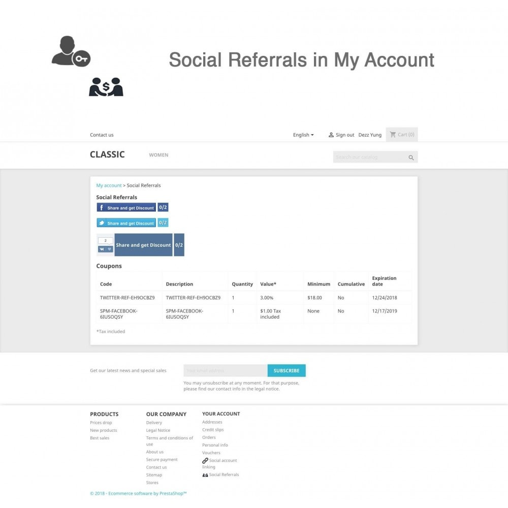 module - Social Rewards & Coupons - Social Referrals + Connects (3 in 1) - 12