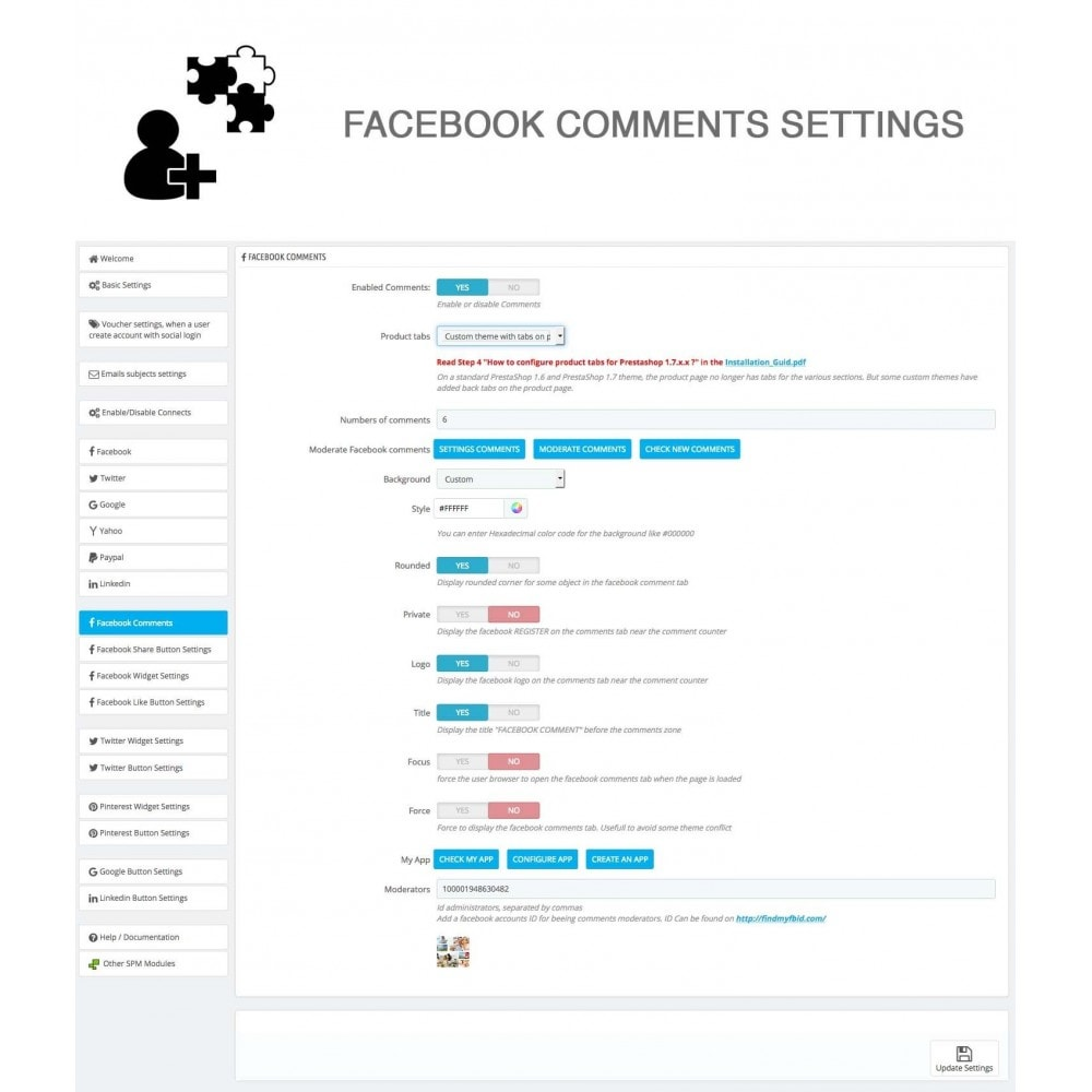 module - Share Buttons & Comments - Social Logins and Coupons + Addons + Statistics 16 in 1 - 29