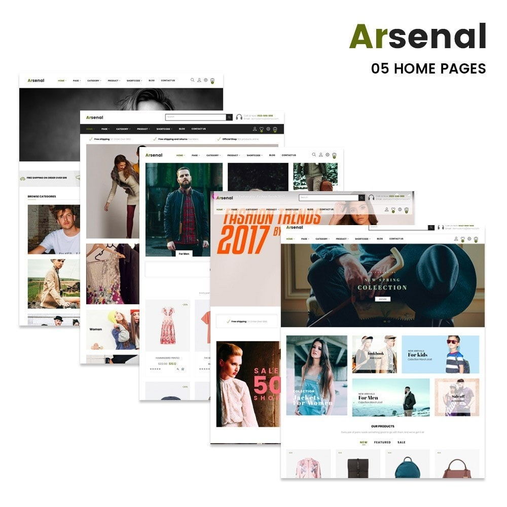 theme - Fashion & Shoes - Arsenal Fashion Store - 2