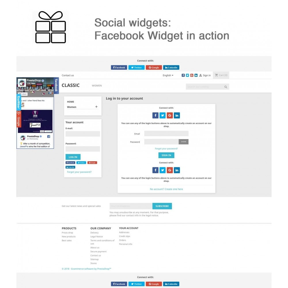 module - Share Buttons & Comments - Full Pack for 4 Social Networks + Statistics - 11