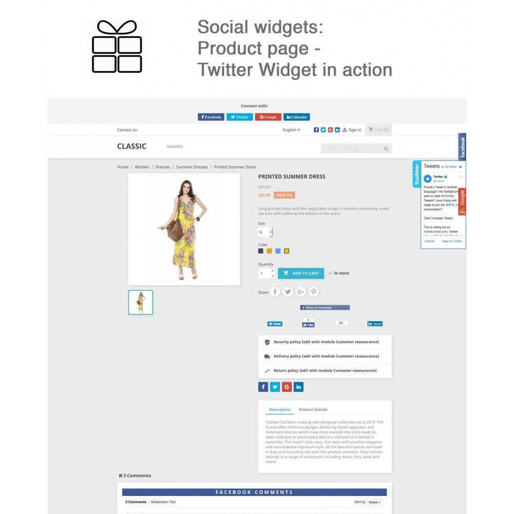 module - Deelknoppen & Commentaren - Full Pack for 4 Social Networks + Statistics - 16