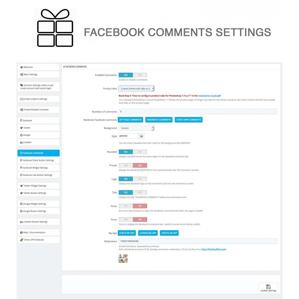 module - Share Buttons & Comments - Full Pack for 4 Social Networks + Statistics - 31