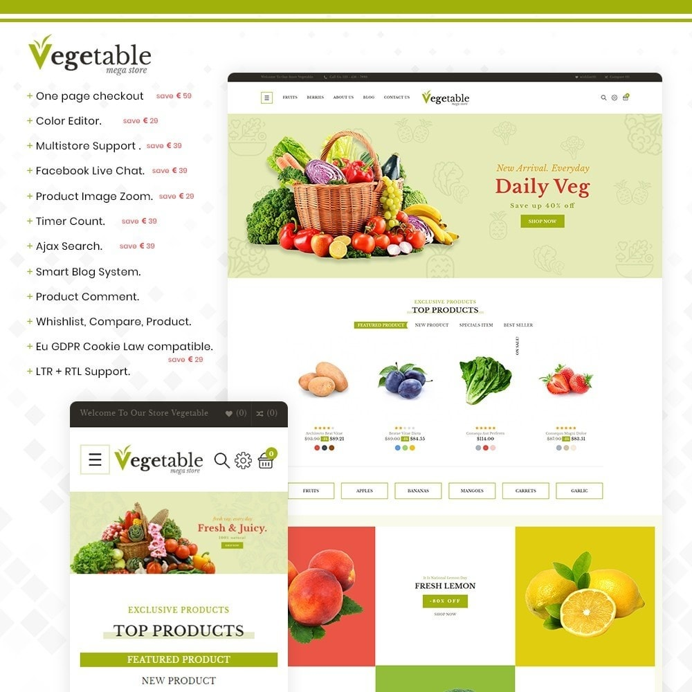 theme - Food & Restaurant - Vegetable – Multipurpose Vegetable Store - 1