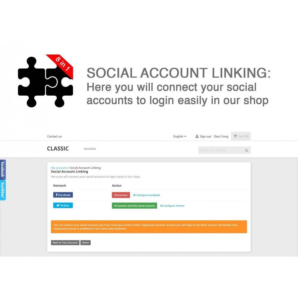 module - Compartir contenidos y Comentarios - Social Connects and Plugins + Statistics (8 in 1) - 8