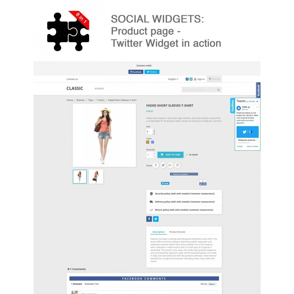 module - Compartir contenidos y Comentarios - Social Connects and Plugins + Statistics (8 in 1) - 12