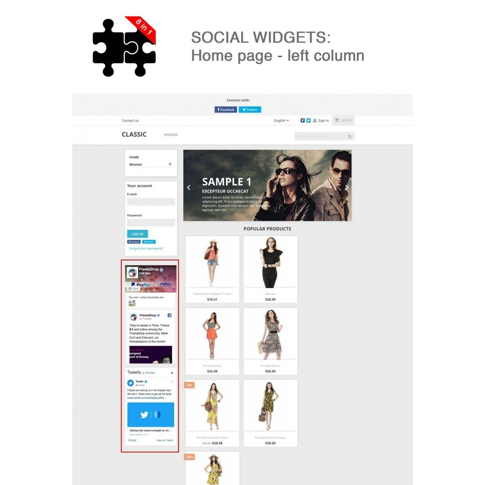 module - Compartir contenidos y Comentarios - Social Connects and Plugins + Statistics (8 in 1) - 13