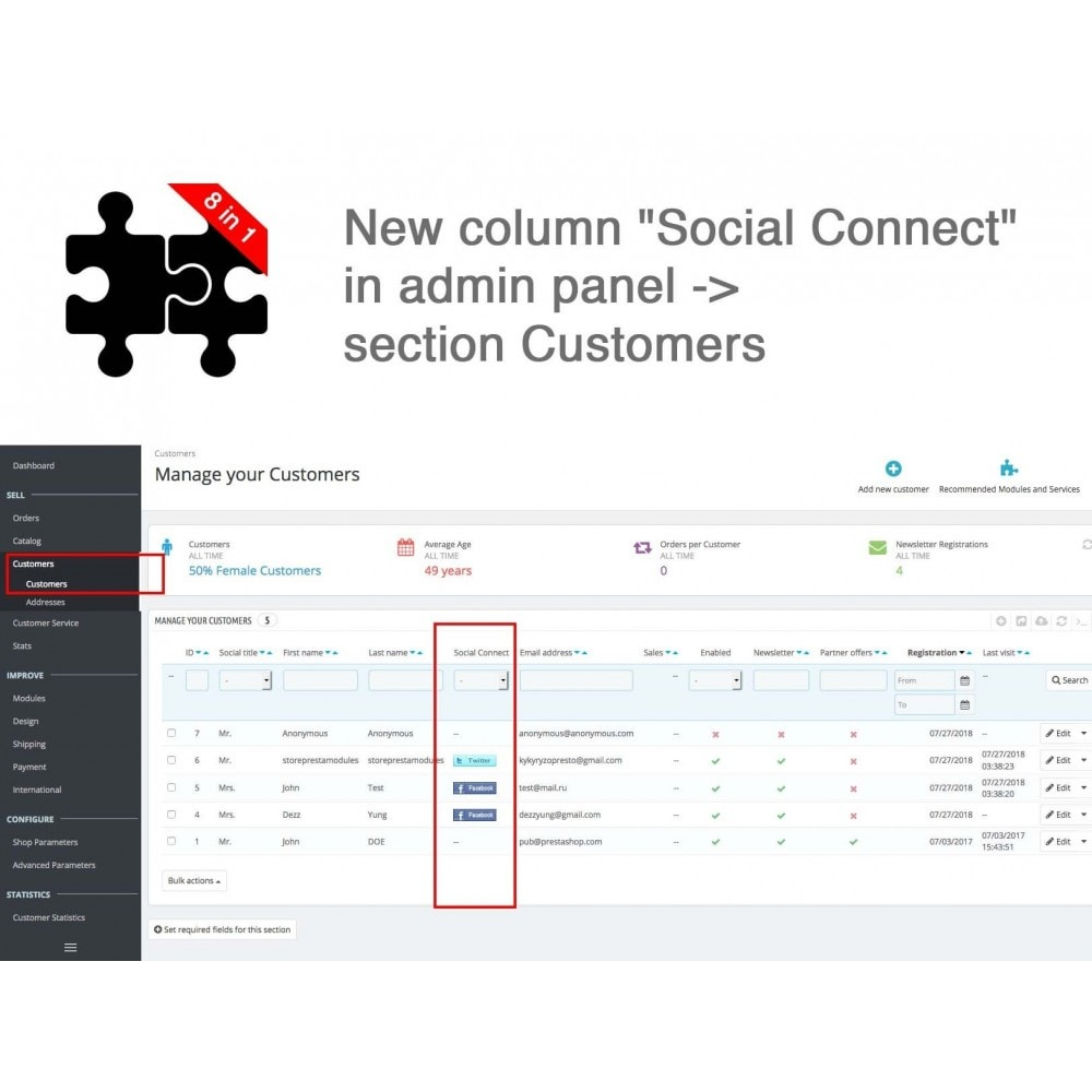 module - Compartir contenidos y Comentarios - Social Connects and Plugins + Statistics (8 in 1) - 21