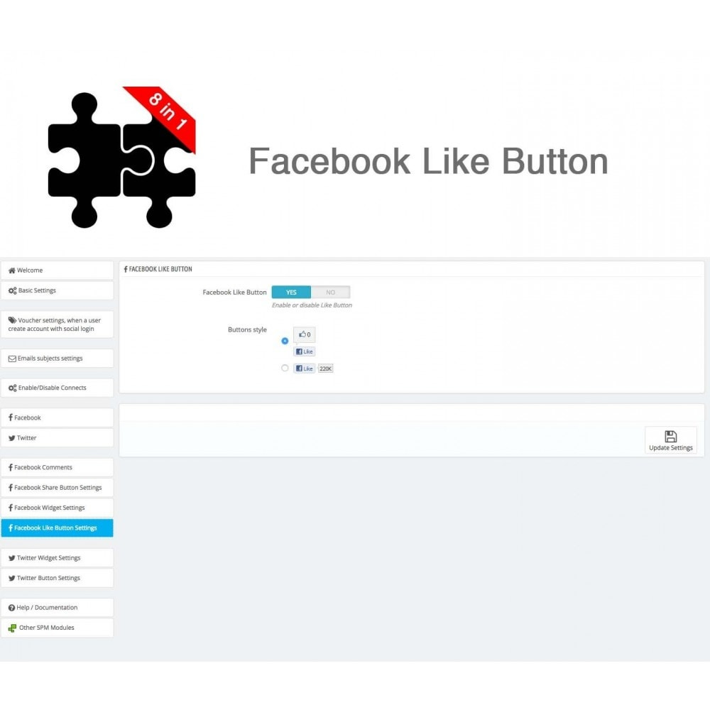 module - Share Buttons & Comments - Social Connects and Plugins + Statistics (8 in 1) - 31